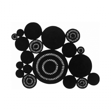 RUG ALYSSA PATCHWORK BLACK