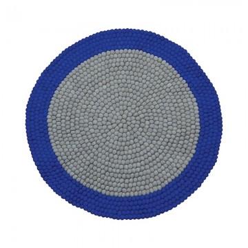 Alfombra bolas de fieltro Mix Blue H0198