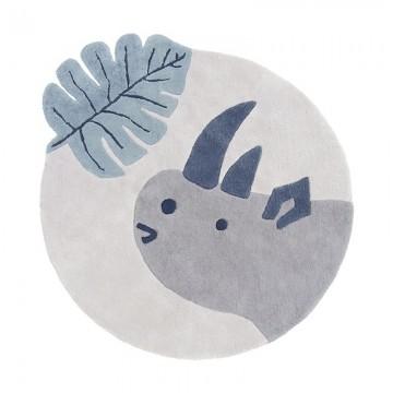 Alfombra circular Rinoceronte h0633