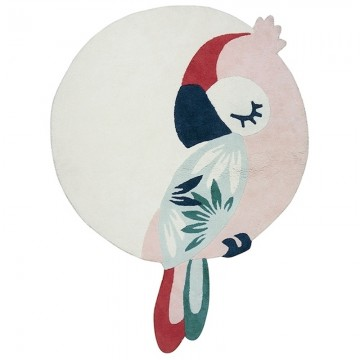 Alfombra circular Tropica Perroquet Rose H0587