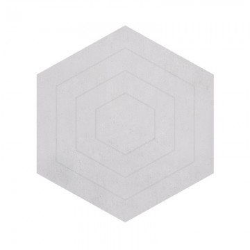 Alfombra Hexágono gris pálido h0499