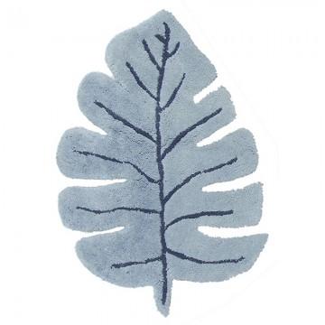 Alfombra hoja azul h0636