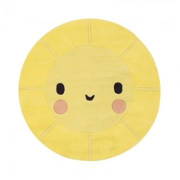 Alfombra circular emoticono sol sonriente H0527