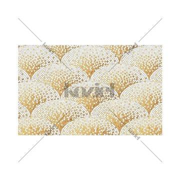 Mosaique Art Déco dorée Anthea