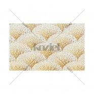 Alfombra Mosaique Art Déco dorée Anthea