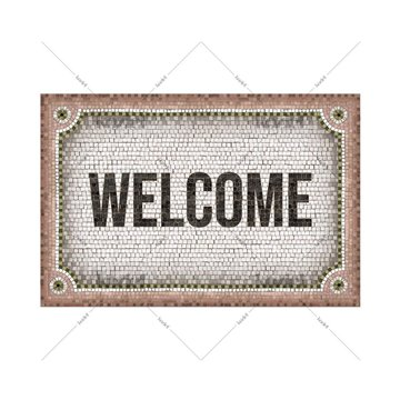 Mosaique Welcome Rose
