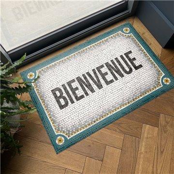 Mosaique Bienvenue Bleu