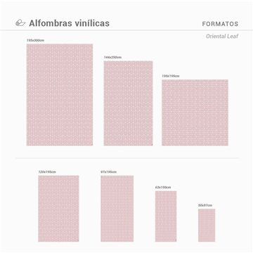 ALFOMBRA VINÍLICA ORIENTAL LEAF